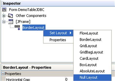 layout manager interface poo java desss cci swing interfaces graphiques