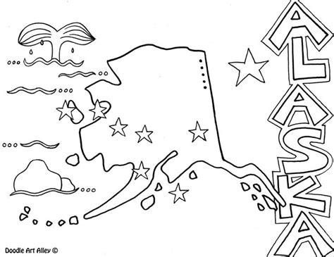 alaska map coloring page printable alaska coloring pages alaska coloring page by doodle art