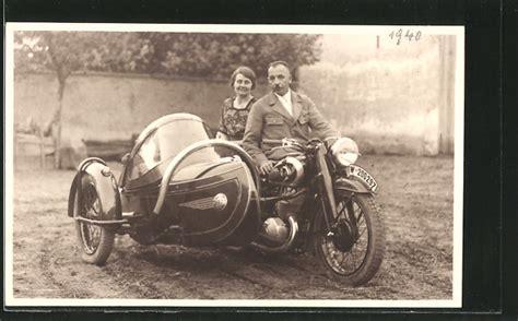 Dkw Motorrad Mit Beiwagen by Foto Ak Motorrad Gespann Dkw Sb 500ccm Kennzeichen W