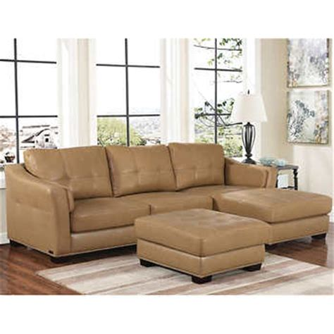 Leather Living Room Set With Chaise Chelsie Top Grain Leather Chaise Sectional And Ottoman