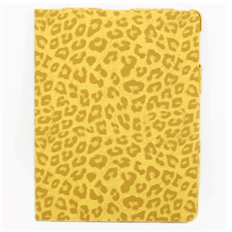 yellow leather pattern taff leather case tiger pattern for ipad mini ipm022