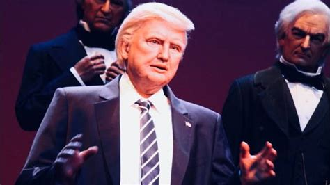 donald trump hall of presidents robotic trump added to hall of presidents has already