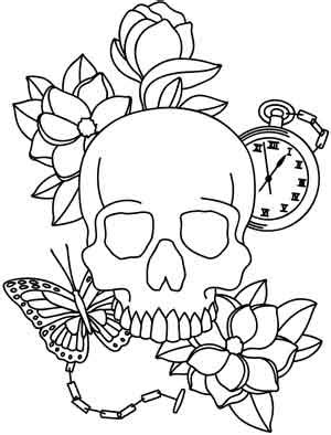 Skull Collage Design Outline by Memento Mori Threads Unique And Awesome Embroidery Designs