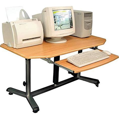 Hydraulic Computer Desk Luxor Hydraulic Adjustable Height Computer Workstation Lact2030