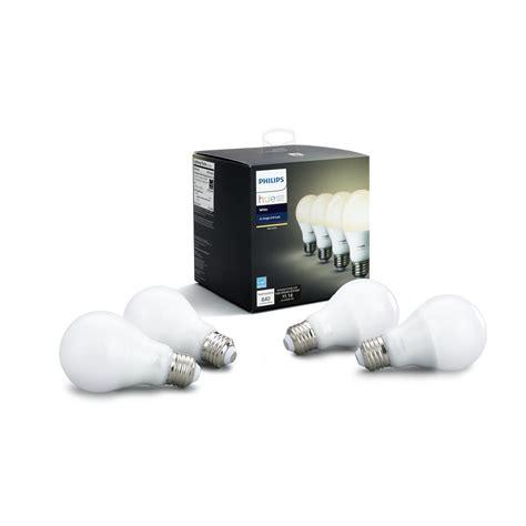 philips hue a19 smart led light bulb philips hue white 60 watt equivalent a19 led smart light