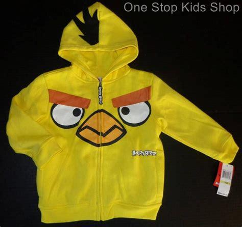 Hoodie Zip Jaket Sweater Angry Birds Anak angry birds boys 4 5 6 7 sweatshirt costume hoodie coat jacket yellow bird ebay