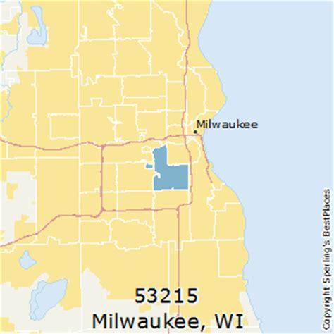 zip code map milwaukee best places to live in milwaukee zip 53215 wisconsin