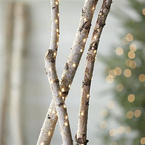 Twinkle Gold String Lights Crate And Barrel How To String Lights On A Tree