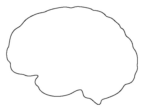 brain template brain pattern use the printable outline for crafts