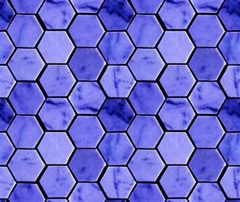 Blue Hexagon Tile Background Seamless Background Or