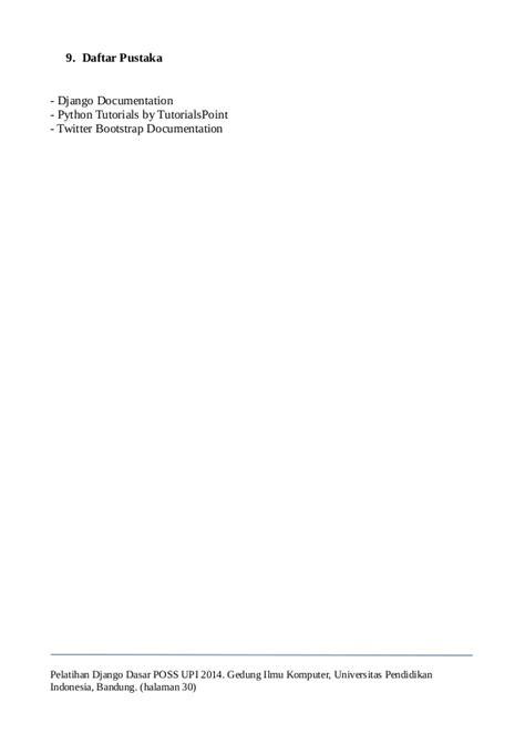 tutorial django indonesia modul pelatihan django dasar possupi v1