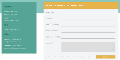 design form website 10 effective contact us forms web design inspiration