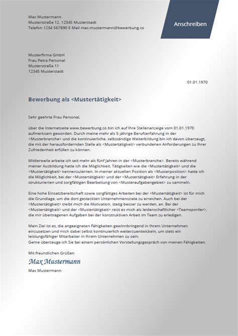 Bewerbung Anschreiben by Bewerbungsschreiben Modern Bewerbung Co