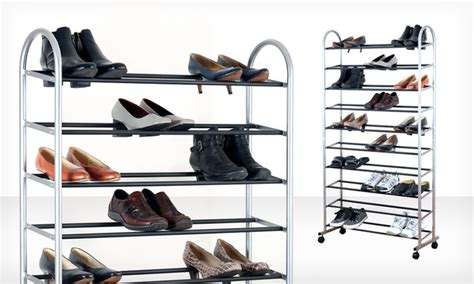 Rack Room Shoes Return Policy by 39 99 For A 10 Tier Rolling Shoe Rack Groupon