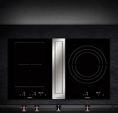 induction cooktop with downdraft ventilation 3 gaggenau induction cooktops with downdraft ventilation