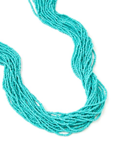turquoise seed bead necklace turquoise seed bead necklace addition