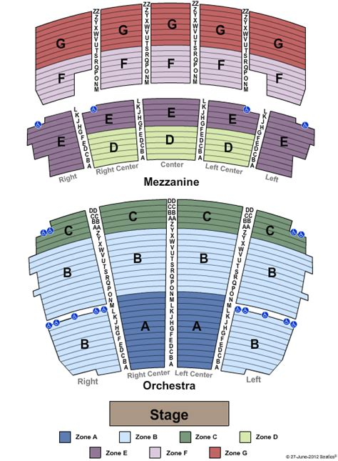 peabody opera house seating chart verizon center seating chart
