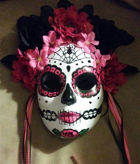 day of the dead sugar skull halloween mask sugar skull mask hand made day of the dead my sugar skulls