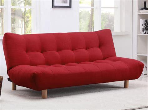 sofa cama clic clac de tela rojo azul  chocolate vincent