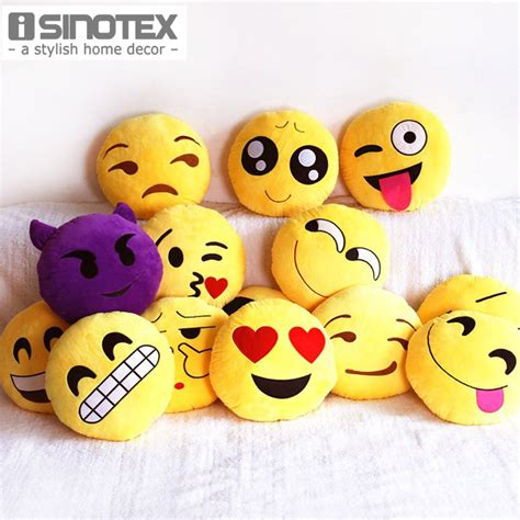 Sofa Emoticon emoji decorative throw pillow stuffed smiley cushion home