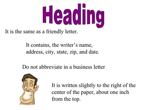 Heading Of A Business Letter Definition Business Letter