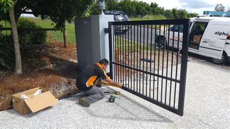 Swing Gate Automation terranora automatic swing gate installation study