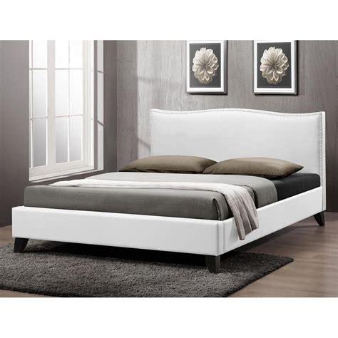 modern upholstered headboards battersby white modern bed with upholstered headboard by