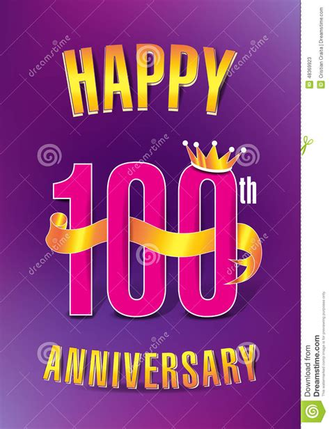 Happy 100th Anniversary Neiman by Happy 100th Anniversary Stock Illustration Image 48369923