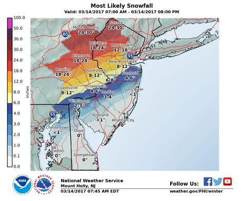 us weather map snow updated forecast shows parts of n j getting heavy snow