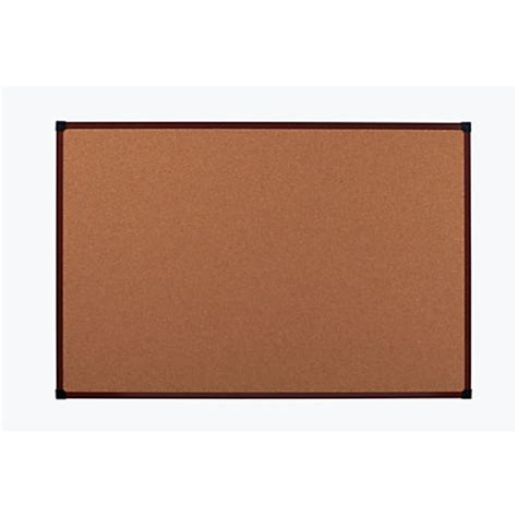 office depot brand framed cork board 48 x 36 mahogany