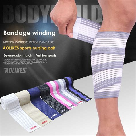 Supports Aolikes 1pcs Wristbands Bandage Safety Knee Pads sport knee band promotion shop for promotional sport knee band on aliexpress