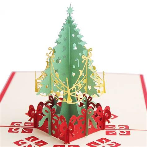 handmade christmas cards  pop  christmas tree merry christmas series invitation greeting
