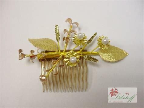 Hochzeit Set Gold by Goldhochzeit 50 Jahre Ehe Gold Haarkamm Und Anstecker Im