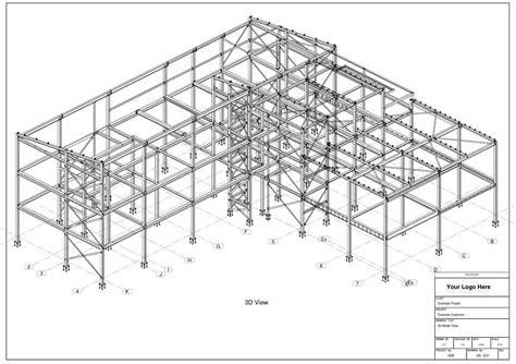 structure drawing steel buildings drawings