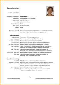 Sample Of A Curriculum Vitae Pdf by 4 Curriculum Vitae English Example Pdf Cashier Resumes