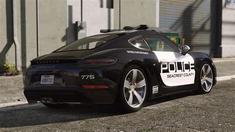 police porsche porsche 718 cayman s pursuit police add on
