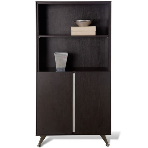 Contemporary Bookcase With Doors Contemporary Bookcase With Doors Espresso Dcg Stores
