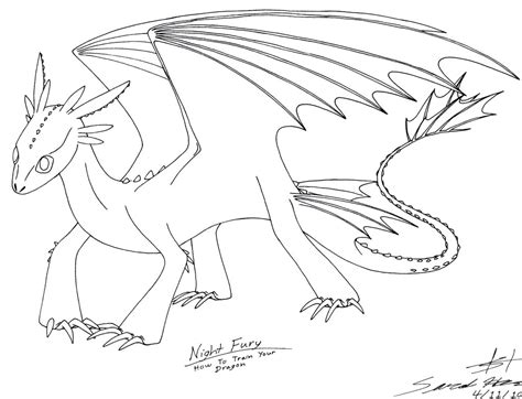 night fury pages coloring pages