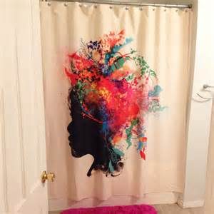 unique shower curtains loving this colorfully unique shower curtain deny designs
