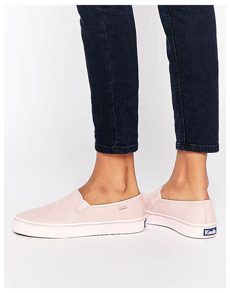 Decker Stitch Keds shoptagr keds decker washed leather pale pink