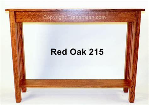 red oak sofa table custom quarter sawn oak craftsman mission console hall