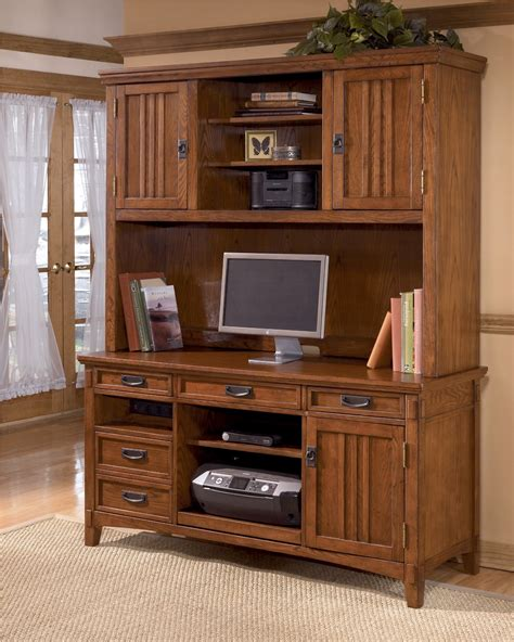 cross island credenza w hutch home office set from