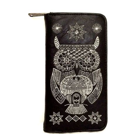 Wallet Owl Black Dompet Panjang loungefly embroidered black white owl wallet
