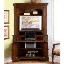Computer Hutch Armoire Riverside Crossroads Corner Laptop Computer Cabinet With