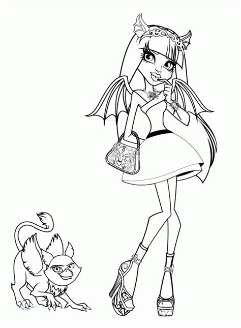 monster high rochelle coloring pages printable rochelle goyle monster high coloring pages