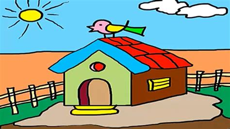 house drawing images www imgkid com the image kid has it coloring for kids how to draw a house hut drawing for