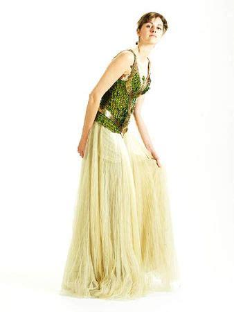 07 Dress Salem Dress Salem an mcqueen peacock feather dress from the a w