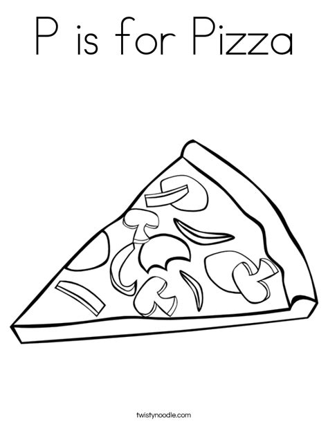 coloring book for a p p is for pizza coloring page twisty noodle