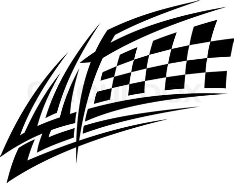 racing tattoo in tribal style for sports design stock