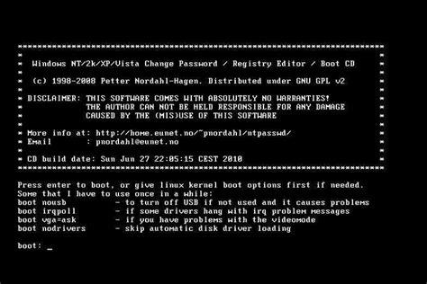 vista offline password reset 7 free windows password recovery tools march 2018